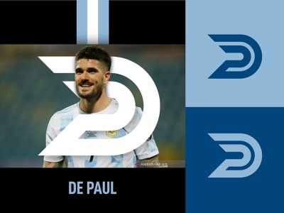 D + P monogram Logo letterlogo letter monoline copaamerica argentina soccer masculin sporty modern simple identity monogram vector logo illustration design creative clean branding brand identity