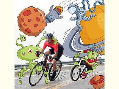 Cycle Race Illustration cartoon emoji cartoon sticker vector illustration cute cartoon race stickers illustration design cartoon vector