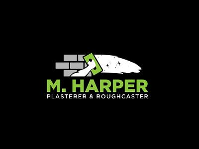 M.Harper Plasterer & Roughcaster Logo Design creative logo logo design logotype typography logo branding design vector