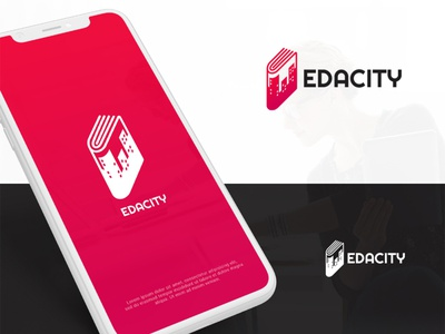 Edacity Logo Design education unique creative logo app typography logo design illustration branding book vector