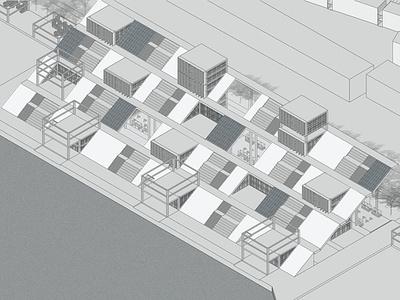 Coastal design 3d art illustration project architecture coastal design