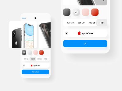 Apple application iteration design iphone minimal app ux ui
