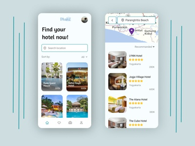 Hotel Booking App hotels icon hotel app hotel booking hotel mobile app ux trend trendy ui design app