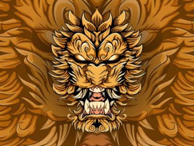 Lion illustration art illustration design