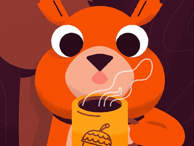 Cool it down! drink cold winter animal squirrel tea chocolate coffee hot cup mug