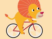 naked lion biking