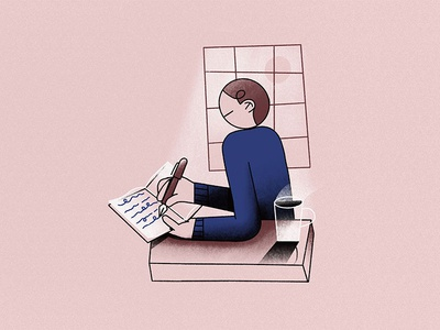 J - Journal // 36daysoftype 2019 characters coffee pen book illustration character window diary writing journal typography 36daysoftype
