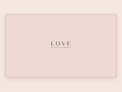 Clothing Brand Website | LOVE web design shop store fashion boutique web brand website animation typography minimal ux ui design