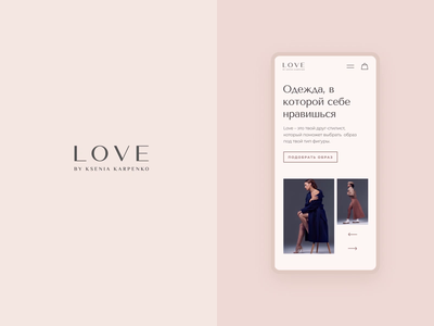 Clothing Brand Website | LOVE typography minimal shop web design web store boutique mobile website animation ux ui