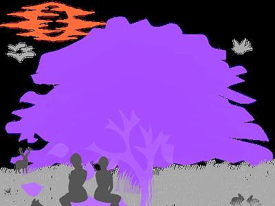 The tree of dreams app color ux branding logo ui illustration web vector design