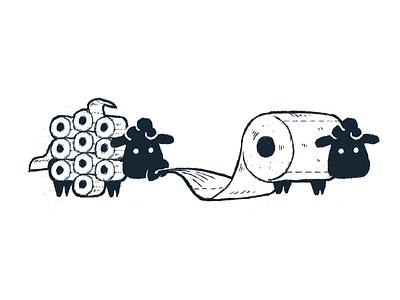 All of You virus toilet paper sheep corona coronavirus