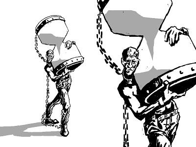 Slave heavy hourglass time slave