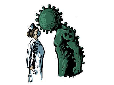 Do your worst... doctor strong monster thing virus coronavirus corona covid19 covid nurse