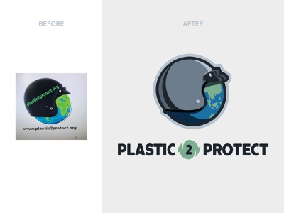 Plastic 2 Protect Logo green plastic