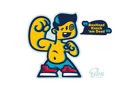 BoxHead Knock 'em Dead fight cute design cartoon character boxhead