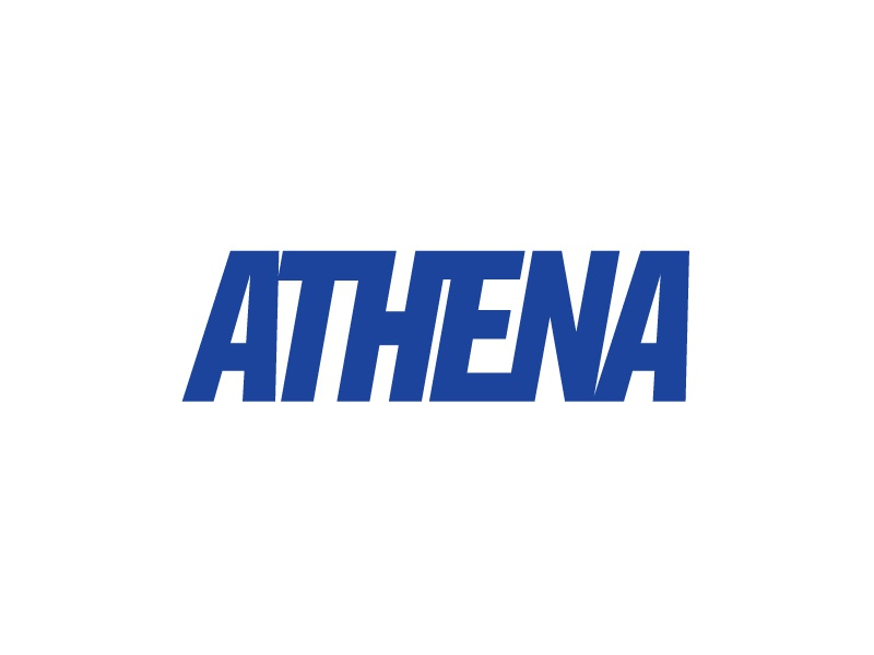 Athena 3 movement fitness bold connected lettering letter typography type atheltic