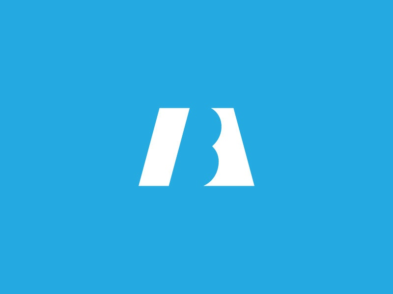 Boswell Aiosa & Co. Logo (Unchosen) bold straight development real estate house home mark b a type letter icon
