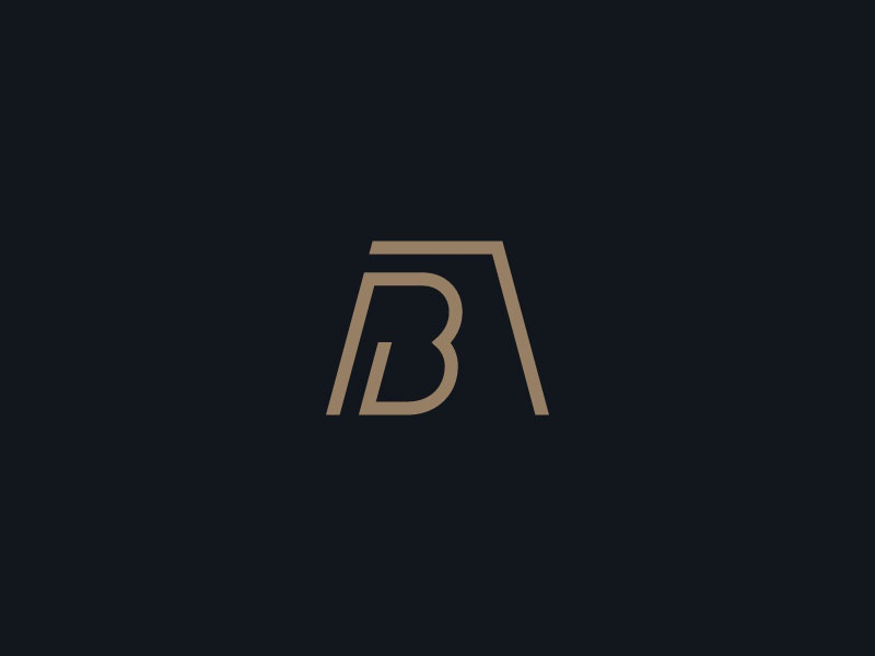 Boswell Aiosa & Co. Logo (Unchosen) house home realty real estate type icon iconic gold b a line linear