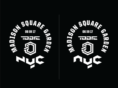 Topic MSG / NYC custom typography type muay thai