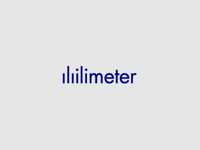 Milimeter measure ruler letter typography type logo tiny small millimeter