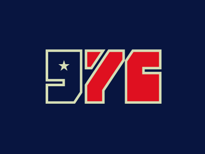 Class of '76 america use star design logo logotype type typography independence day 1776 4th of july