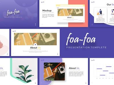 Foa foa Creative Presentation foa-foa creative templete graphic design branding presentation template presentation layout presentation design presentation