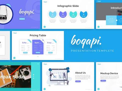 Boqapi Creative Presentation powerpint templete creative templete presentation template branding presentation layout presentation design presentation graphic design