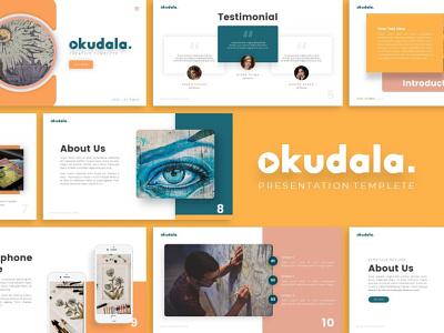 Okudala Creative Presentation powerpoint templete creative templete presentation template branding presentation layout presentation design presentation graphic design