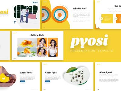 Pyosi Creative Presentation powerpoint templete creative presentation template graphic design branding presentation layout presentation design presentation
