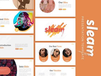 Sleam Creative Presentation powerpoint creative templete presentation template branding presentation layout presentation presentation design graphic design