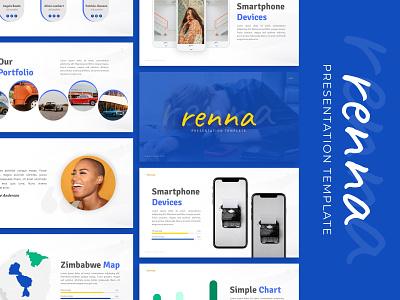 Renna Creative Presentation powerpoint creative templete presentation template branding presentation layout presentation design presentation graphic design