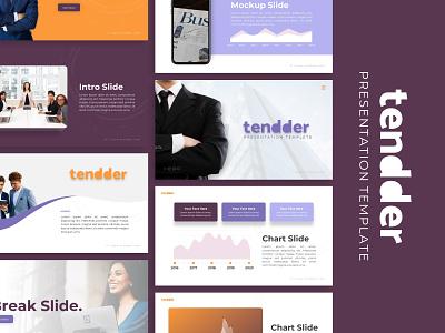 Tendder Business Presentation powerpoint business templete presentation template branding presentation layout presentation design presentation graphic design