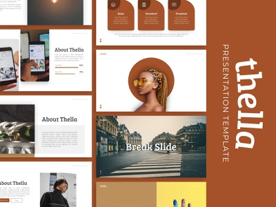 Thella Creative Presentation powerpoint creative templete presentation template branding presentation layout presentation design presentation graphic design