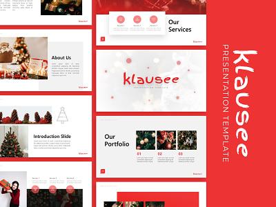 Klausee Christmas Presentation christmas natal templete presentation template branding presentation layout presentation design presentation graphic design