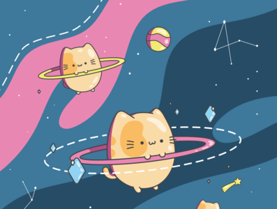 Chonky Kitty In Space