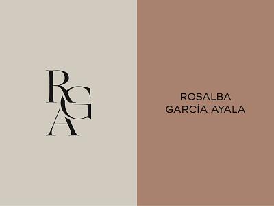 RGA nutrition brand monogram logo monogram