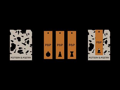 P&P texture idenity logo tag typogaphy brand stationery