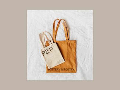 P&P typogaphy type logo icon brand tote pottery