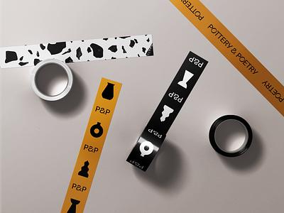 P&P texture pottery tape logo typogaphy branding brand design