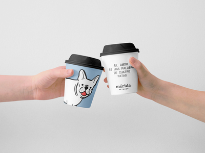 Mérida Petshop Papercup branding illustration cat dog pet petshop coffee papercup