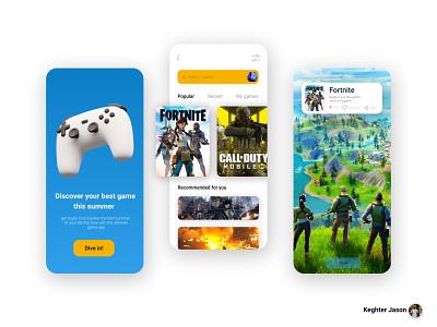 Game play UI design concept game app concept game app ui designer design app