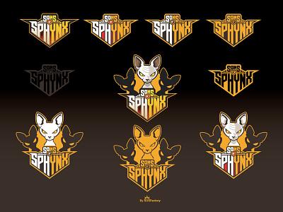 Sons of Sphynx Logo design sphynx mascot sphynx cat sphynx logo mascot logo
