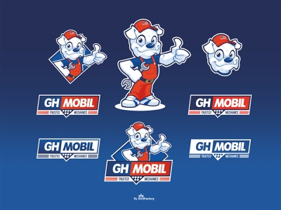 GH Mobil corporate illustration mascot logo vector branding corporate character character design mascot design corporate mascot cartoon logo mascot character