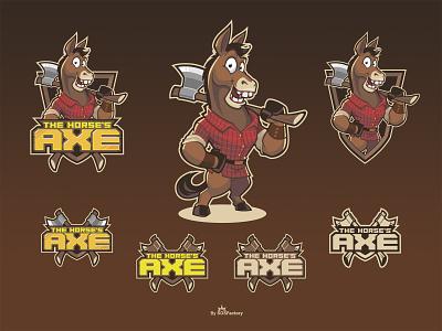 The Horse's Axe cartoon logo corporate character character design logo illustrative logo mascot corporate mascot mascot character mascot logo mascot design