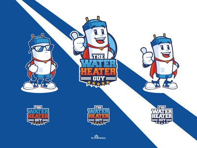 The Water Heater Guy mascot logo characterdesign corporate character mascot corporate illustration character design illustrative logo mascot design mascot logo cartoon logo mascot character
