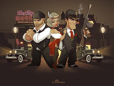 Welcome to 1920 game design game art mafia game game illustration