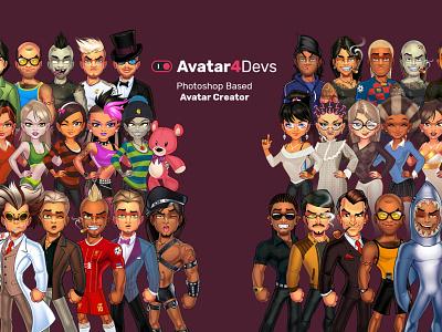 Avatar4devs Photoshop based Avatar Creator avatardesign avatar generator avatar maker avatar creator
