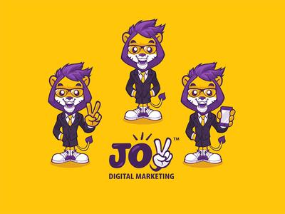 Brand identity for Joy Digital Marketing