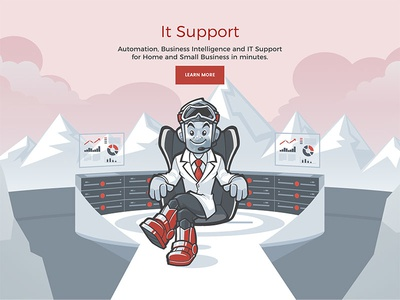 Summit corporate illustration IT Support