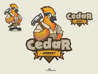 Cedar Joinery logo design logo joinery cedar mascot logo mascot design logo design